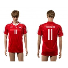 European Cup 2016 Switzerland home 11 Behrami red AAA+ soccer jerseys