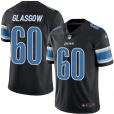2016 Nike Detroit Lions 60 Graham Glasgow Black Mens Stitched NFL Limited Rush Jersey