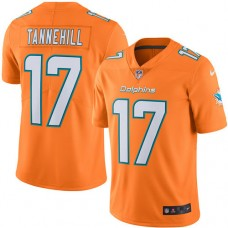 2016 Nike Miami Dolphins 17 Ryan Tannehill Orange Mens Stitched NFL Limited Rush Jersey