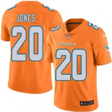2016 Nike Miami Dolphins 20 Reshad Jones Orange Mens Stitched NFL Limited Rush Jersey