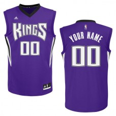 Adidas Sacramento Kings Youth Custom Replica Road Purple NBA Jersey