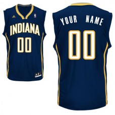 Men Adidas Indiana Pacers Custom Replica Road Navy NBA Jersey