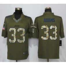 2017 NFL Nike New York Jets 33 Adams Green Salute To Service Limited Jersey