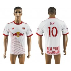 Men 2017-2018 club New York Red Bulls home aaa version 10 white soccer jersey