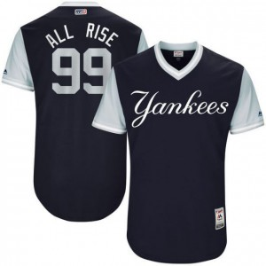 Men New York Yankees 99 All Rise Blue New Rush Limited MLB Jerseys