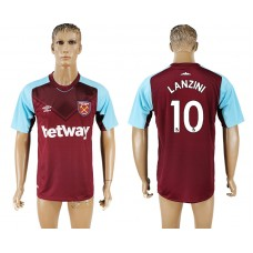 Men 2017-2018 club West ham at home 10 red aaa version soccer jersey