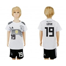 2018 World Cup Germany home kids 19 white soccer jersey