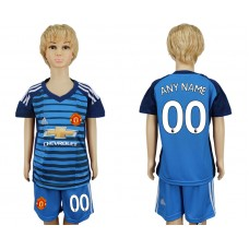 2017-2018 club Manchester united goalkeeper kids customized soccer jersey