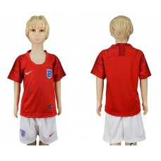 2018 World Cup England away kids red soccer jersey