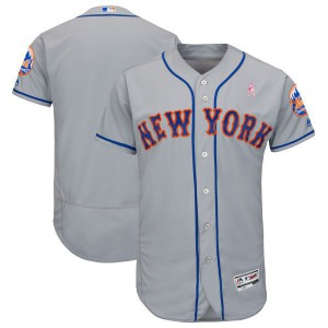 Men New York MetsBlank Grey Mothers Edition MLB Jerseys