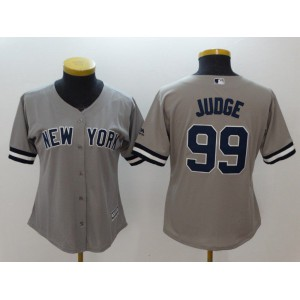 Women New York Yankees 99 Judge Grey MLB Jerseys