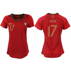 2018 World Cup Portuga home aaa version womens 17 soccer jersey
