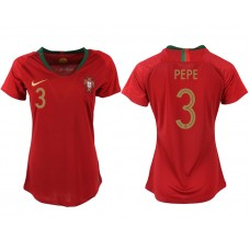 2018 World Cup Portuga home aaa version womens 3 soccer jersey