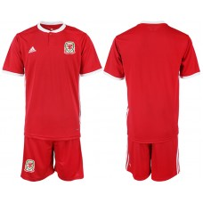 2018-2019 Men national Welsh home soccer jersey