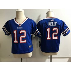 Baby Buffalo Bills 12 Kelly Blue Nike NFL Jerseys