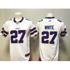 2018 Men Buffalo Bills 27 White Nike white Game Jersey