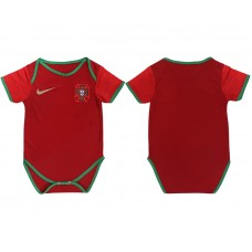 Baby 2018 World Cup Portugal home clothes red soccer jerseys