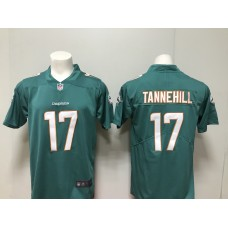 MenMiami Dolphins 17 Ryan Tannehill Nike green New 2018 Game Jersey