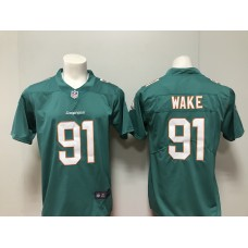 MenMiami Dolphins 91 Cameron Wake Nike green New 2018 Game Jersey