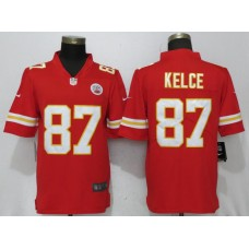 2018 Men New Nike Kansas City Chiefs 87 Kelce Red Vapor Untouchable Limited Player