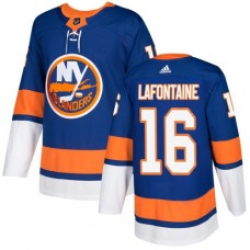 Adidas Men NEW York Islanders 16 Pat LaFontaine Royal Blue Home Authentic Stitched NHL Jersey