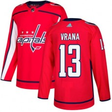 Adidas Men Washington Capitals 13 Jakub Vrana Red Home Authentic Stitched NHL Jersey