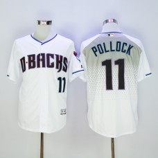 Men Arizona Diamondback 11 Pollock White MLB Jerseys