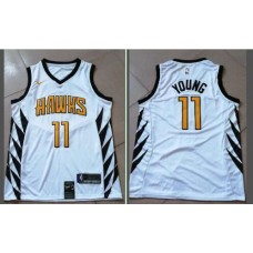 Men Atlanta Hawks 11 Young White City Edition Game Nike NBA Jerseys