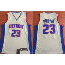 Men Detroit Pistons 23 Griffin White Nike Game NBA Jerseys