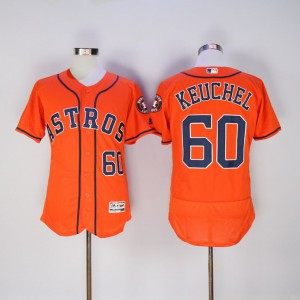 Men Houston Astros 60 Keuchel Oragne MLB Jerseys