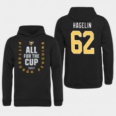 Men NHL Pittsburgh Penguins 62 Hagelin black All for the Cup Hoodie