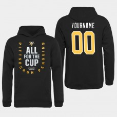 Men NHL Pittsburgh Penguins customized black All for the Cup Hoodie