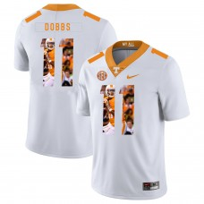Men Tennessee Volunteers 11 Dobbs White Fashion Edition Customized NCAA Jerseys
