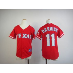 Youth Texas Rangers 11 Darvish Red MLB Jerseys