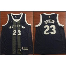 Men Detroit Pistons 23 Griffin Black City Edition Game Nike NBA Jerseys