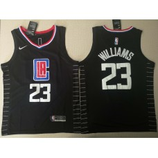 Men Los Angeles Clippers 23 Williams Black City Edition Game Nike NBA Jerseys
