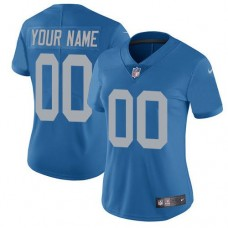 2019 NFL Women Nike Detroit Lions Alternate Blue Customized Vapor Untouchable Limited jersey