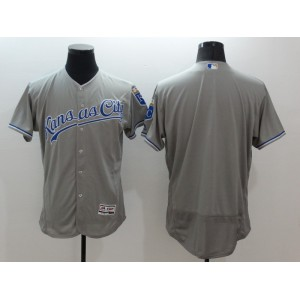 2016 MLB FLEXBASE Kansas City Royals Blank Grey Jersey