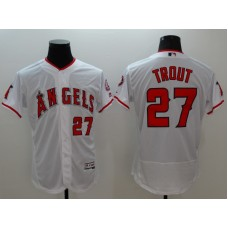 2016 MLB FLEXBASE Los Angeles Angels 27 Trout white jerseys