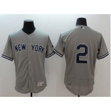2016 MLB FLEXBASE New York Yankees 2 Derek Jeter grey jerseys
