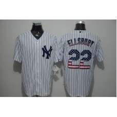 2016 MLB New York Yankees 22 Ellsbury White USA Flag Fashion Jerseys