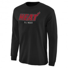 2016 NBA Miami Heat Noches Enebea Long Sleeve T-Shirt - Black