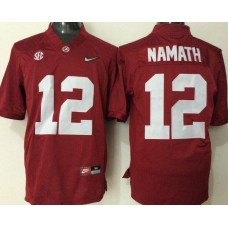 2016 NCAA Alabama Crimson Tide 12 Namath red jerseys
