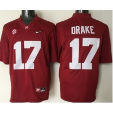 2016 NCAA Alabama Crimson Tide 17 Drake red jerseys