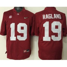 2016 NCAA Alabama Crimson Tide 19 Ragland red jerseys