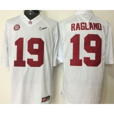 2016 NCAA Alabama Crimson Tide 19 Ragland white jerseys