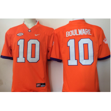2016 NCAA Clemson Tigers 10 Boulware Orange Jerseys