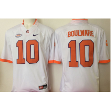 2016 NCAA Clemson Tigers 10 Boulware White Jerseys