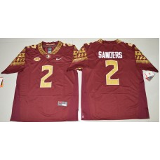 2016 NCAA Florida State Seminoles 2 Deion Sanders Red College Football Limited Jersey
