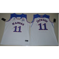 2016 NCAA Kansas Jayhawks 11 Josh Jackson White College Basketball Authentic Jersey